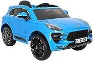 Rollplay 31222 Porsche Macan Turbo SUV Premium E-Cars, Blue