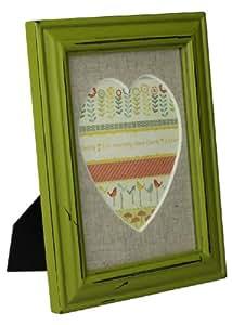 Cadre photo-vert kiwi colore shabby vintage cadre photo bois 17 x 22