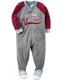 Carter's Schlafanzug Größe 92 - 128 Fleece Einteiler Junge Boy warm Weich Winter Reißverschluss