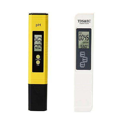 ETbotu Digital 4 en 1 TDS PH EC Température Mètre kit 0-9999us/CM conductivité électrique 0,01 Résolution pour des Effets de l'eau Potable, hydroponie, Aquariums, Piscine