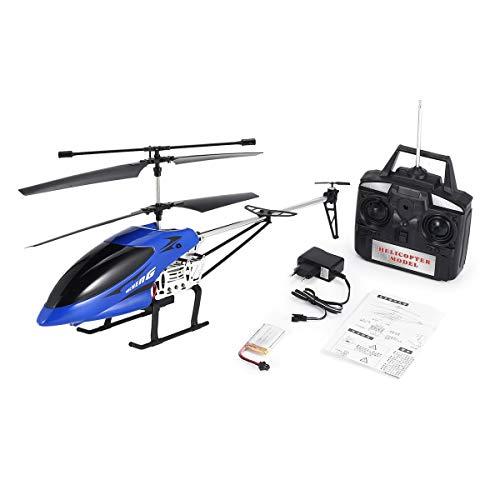 Gugutogo 69136 68cm 3.5CH 2.4Ghz aleación Grande Drone helicóptero RC con giroscopio Luz