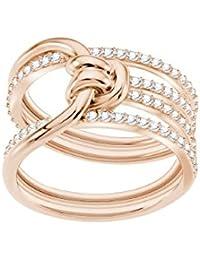Swarovski Damen-Ring LIFELONG Metall Swarovski Kristalle (roségold)