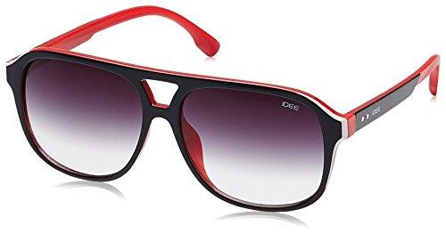 IDEE Gradient Square Men's Sunglasses - (IDS2078C2SG|56|Smoke Half Gradient lens) image