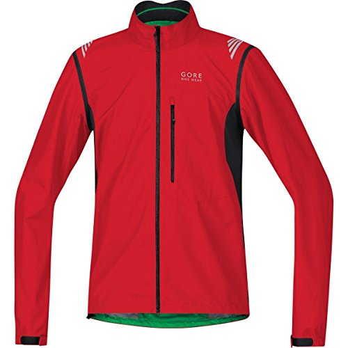 GORE BIKE WEAR, Giacca ciclismo Uomo, Leggera, Maniche staccabili, GORE WINDSTOPPER Active Shell, ELEMENT WS AS Zip-Off Jacket, Taglia L, Rosso/Nero, JWAELM359905