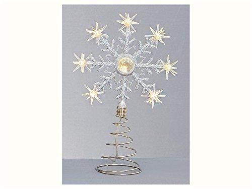 Premier Flocon de Neige LED à Piles Sapin de Noël en Blanc Chaud –