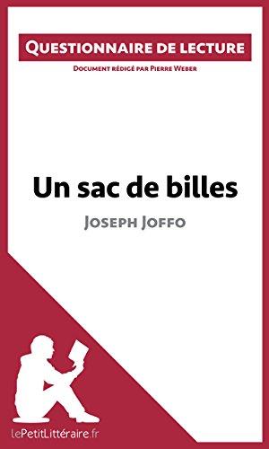 Un Sac De Billes De Joseph Joffo: Questionnaire De Lecture