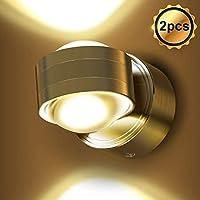 EBES 2PCS 6W LED Apliques de pared Modernos Luz de pared Blanco Cálido Dormitorio Pasillo Sala de Estar Escaleras
