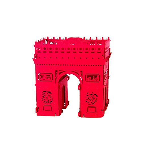 3D Pop up im Papierbasteln berühmten Architektur Paperproducts Design Blanko Grußkarte Schreiben Words to Express Your Blessings für Hochzeitstag Jahrestag Geburtstag Paar Mutter 's Day Vatertag Halloween Thanksgiving Weihnachten Valentinstag etc. Arc de Triomphe (Kontakt Geist Halloween)