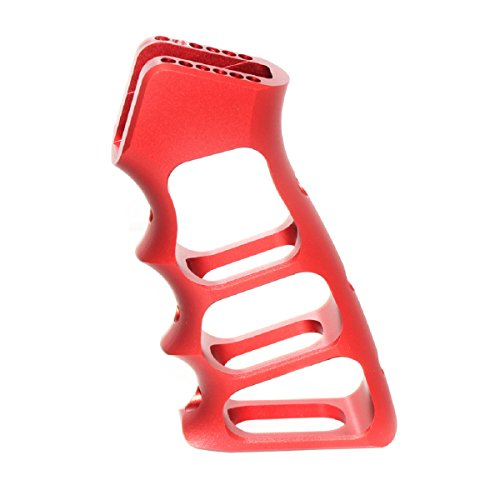 tzteile 5KU CNC Skeletonized Pistolen-Griff für WA M4 M16 GBB Rot ()