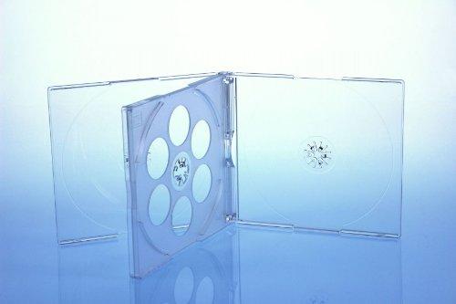 Preisvergleich Produktbild 25 CD/DVD Jewelcase 4fach 4er / Hüllen für 4 Disc / glasklar/transparent