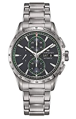 Hamilton Broadway AutoChrono/Men's Watch/Blue dial with Green Details/case and Steel/ref. H43516141