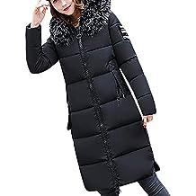 Covermason Manteau Hiver Femme Jacket Elegant Uni Zip Long Veste à Capuche  Fourrure Fausse Chaud Doudoune bedfeb651f8