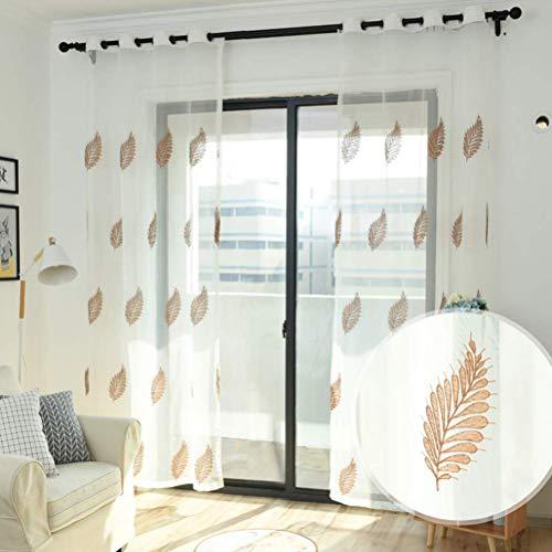 Tenda a occhiello semitrasparente a scorrimento ad anello con passanti a piega singola due pannelli trattamento finestra modern,300 * 270/2
