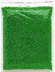 1KG- Perles de cire à épiler pelable VERTE, épilation sans bande - sachet de 1000gr, soit 1kg de pastilles de cire, TOP PROMO