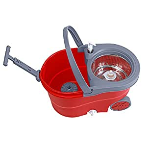 SEISO ROTO MOP 360 WITH WHEEL IN RED ROTOMOP-RED