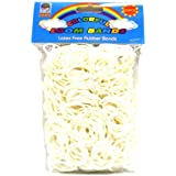 Loom Bandz - Rainbow Colours - White 600 Count With Clips