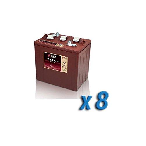 Akku 48V Photovoltaik Accumulation 8 x T-105 6V 225Ah Batterien Trojan (Cycle 6 Volt Batterie-deep)