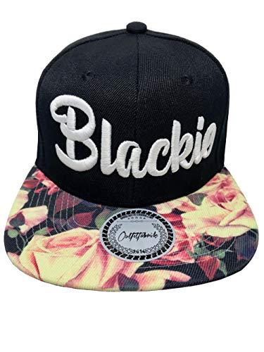 Outfitfabrik &Hearts Hearts; Snapback Cap Stickerei Blackie mit Flower-Schirm