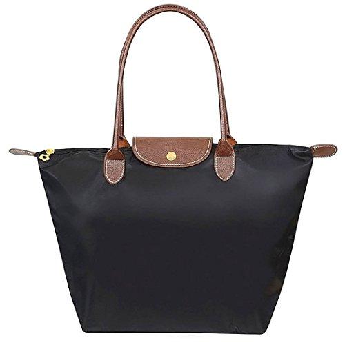 Damen Handtasche, Coofit Damen Shopper Tasche Elegant Umhängetaschen Schultertasche Damen Schwarz