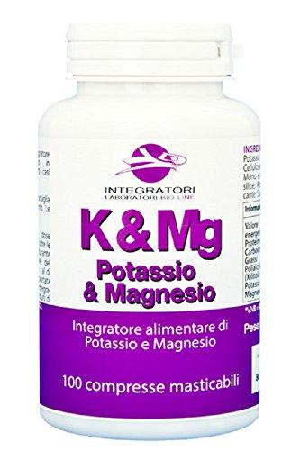 Potassio e Magnesio in compresse masticabili, 100 cpr