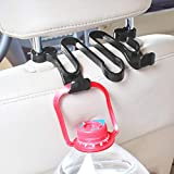 Walkretynbe Autositz-Zubehör, Auto-Rücksitz, Kunststoffhaken, Kopfstützen-Halterung, Tasche, Regenschirmhalter, schwarz