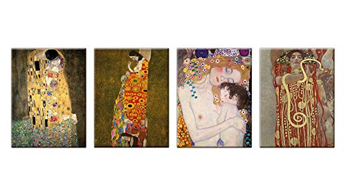 LuxHomeDecor Cuadros Gustav Klimt El Beso Medicina