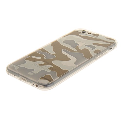 MOONCASE iPhone 6 Plus Case Camouflage Series Gel TPU Silicone Housse Coque Etui Case Cover pour Apple iPhone 6 Plus 5.5'' Brun Claire