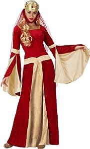 Atosa-15436 Disfraz Dama Medieval, color rojo, M-L (15436)