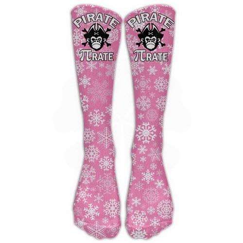 Crew Sports Novelty Warm Winter Knee High Socks Pirate Pi-rate Chimpanzee Skull Great Quality Men 1 Pair Long Tube Stockings for Running ()