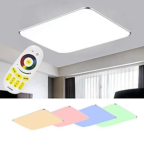SAILUN 48W RGB LED moderno luz de techo lámpara de techo corredor sala de estar lámpara dormitorio cocina Luz ahorro de energía plata