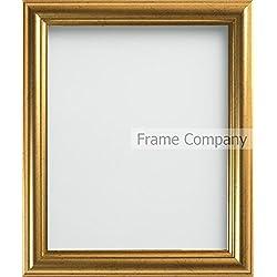 Frame Company - Cornice portafoto Dorata, Misure Varie A4 (11.75x8.25'')- 29.7x21cm Oro