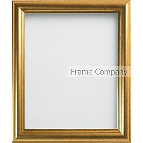 Frame Company - Cornice portafoto dorata, misure varie 9x6 inches - 22.8x15.2cm oro