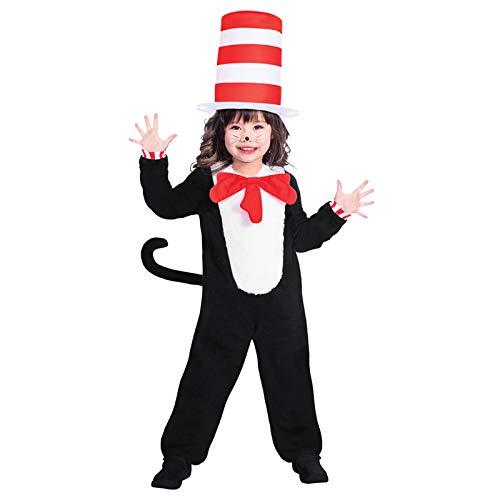 Dr. Seuss Kater mit Hut Jumpsuit - Kostüm ()