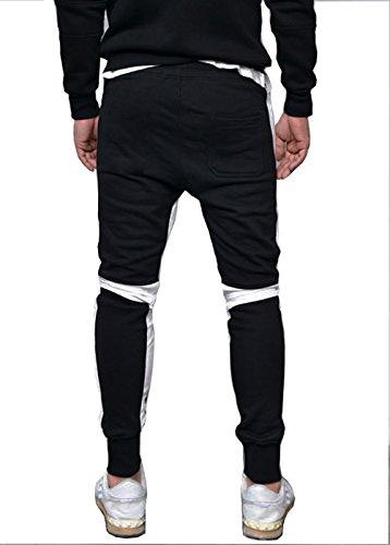 Seven Rocks Men's Cotton Track Pants Jogger Pajama(L-P1-BL_Black)