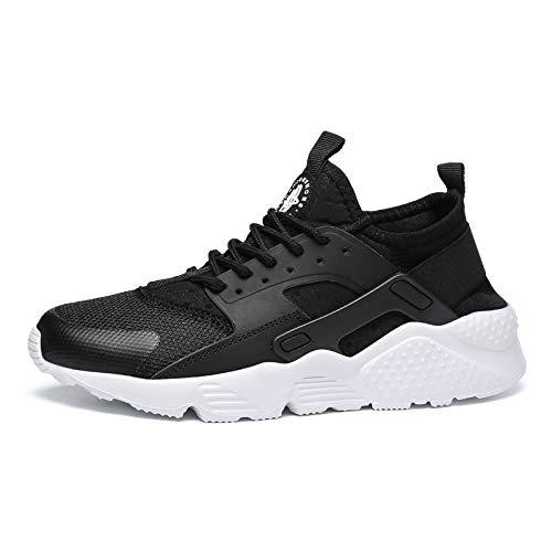 ECOLAQ& 2019, Scarpe da Ginnastica da Uomo Casual Primaverile, Traspiranti, da Uomo, Modello Zapatos De Hombre HH-740, Colore Nero e Bianco