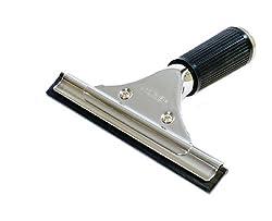 GBPro Edelstahl Fensterwischer, Abzieher (fensterabzieher) mit Gummilippe 15 cm