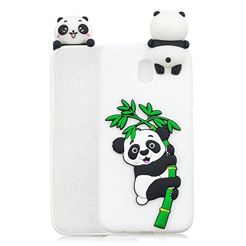 für Samsung Galaxy J5 2017 Silikon Hülle Neu 3D Panda Muster Ultradünn Hüllen Handyhülle Gummi für Galaxy J5 2017 Schutzhülle Stoßfest TPU Gel Stoßstange Cover (Weiß 1) ()
