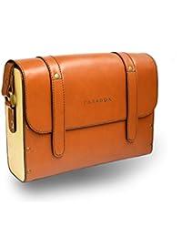 Paradox Mens / Womens Messenger / Sling Bag Tan Brown Color