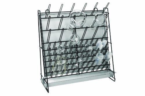Heathrow Scientific HD23243A Steel Wire Drying Rack, 462 mm Length x 182 mm Width x 525 mm Height, Black/Grey