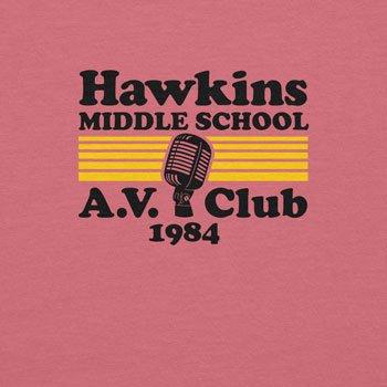 Planet Nerd Hawkins Middle School - Damen T-Shirt Rosa