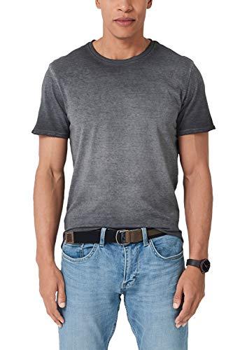 s.Oliver Herren 13.904.32.6075 T-Shirt, Grau (Charcoal 98g0), Large (Herstellergröße: L) (Herren T-shirt Grau)