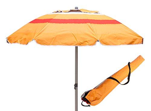 Ombrellone in allumino spiaggia mare con camino anti-vento ultra leggero panarea - arancione