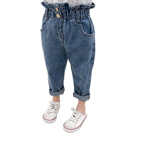 Gyratedream Kinder Hosen Taille Jeans Denim Kleinkind Mädchen Casual elastische Taille Jeans Denim Hosen Sommer Herbst Bottoms Hosen Pocket Bottoms Jeans
