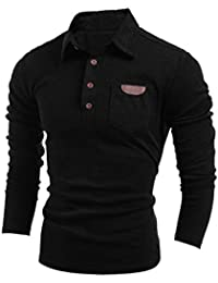 MQ Hommes Polo Chemise Vintage Bouton Manches Longues Lapel T-shirt Mode Mince Fit Tee Shirts Tops