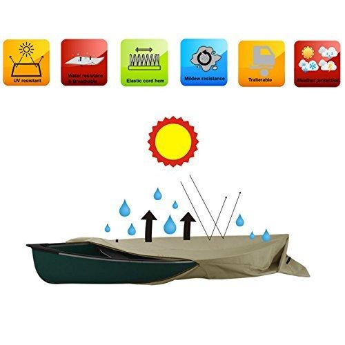 Heavy Duty H2O Kanu Kajak Schutzhülle für Boote bis 12,6Fuß Premium Coated 600D Polyester, klein