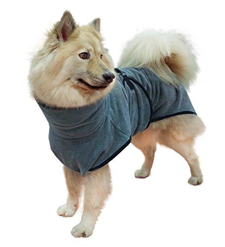 Hundebademantel Gr. 6: ab ca. 69 cm Rückenlänge - trocknet auch den Bauch! geeignet für sehr große Hunde z.B. Berner Sennenhund, weibl. Neufundländer