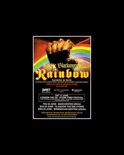 Stick It On Your Wall Mini-Poster Ritchie Blackmore - Rainbow In Rock - First Tour in über 20 Jahren 2017 - 25,4 x 20,3 cm -