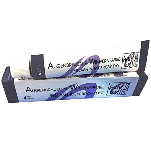 Hairwell Augenbrauen- und Wimpernfarbe Nr. 4 Grafit 20 ml Augenbrauen- & Wimpernfarbe Nr. 4 Grafit...