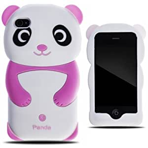 Zooky?¤Ä? Apple Silicone Iphone 4 / 4s Cover Case Shell - Pink Panda 3d