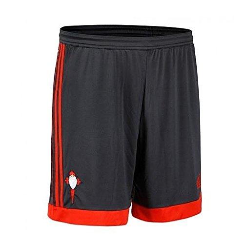 Adidas Away Short - Pantalón Corto Real Sociedad 2ª equipación 2015/2016 para Hombre, Color Gris/Rojo, Talla 152